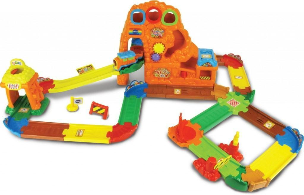 VTech Toot-Toot Drivers Gold Mine Train Set 32 Piece Track Learning Toy for Kids
